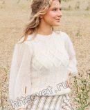 Вязаный белый джемпер White Meadow