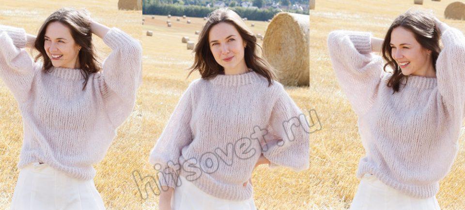Вязание джемпера Cotton Candy, фото.
