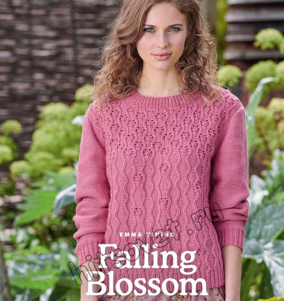 Вязание джемпера Falling Blossom, фото 1.