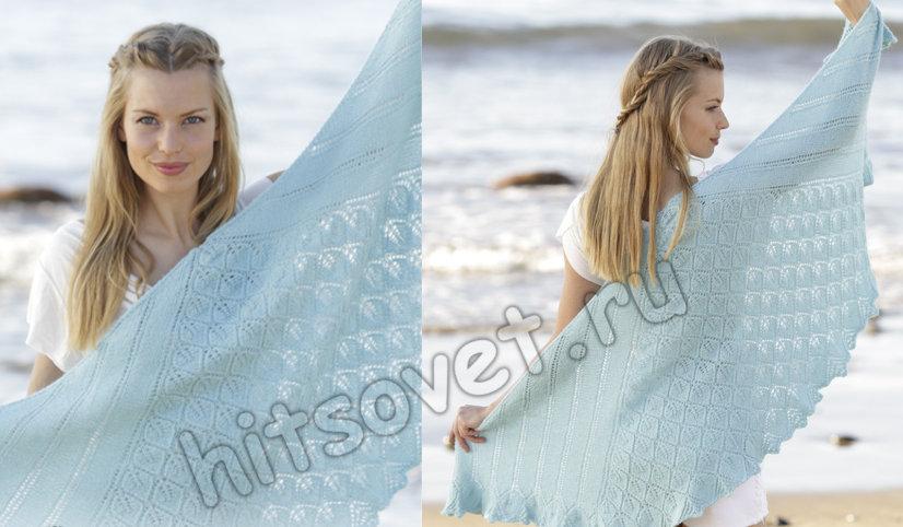 Вязание шали Cinderella