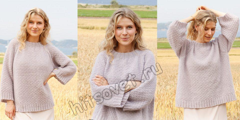 Вязание свитера Lavender Sprinkles, фото.
