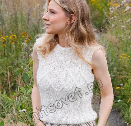 Вязаный̆ топ White Meadow, фото 1.