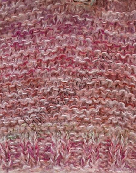 Модный свитер спицами Painted Rose, фото 2.