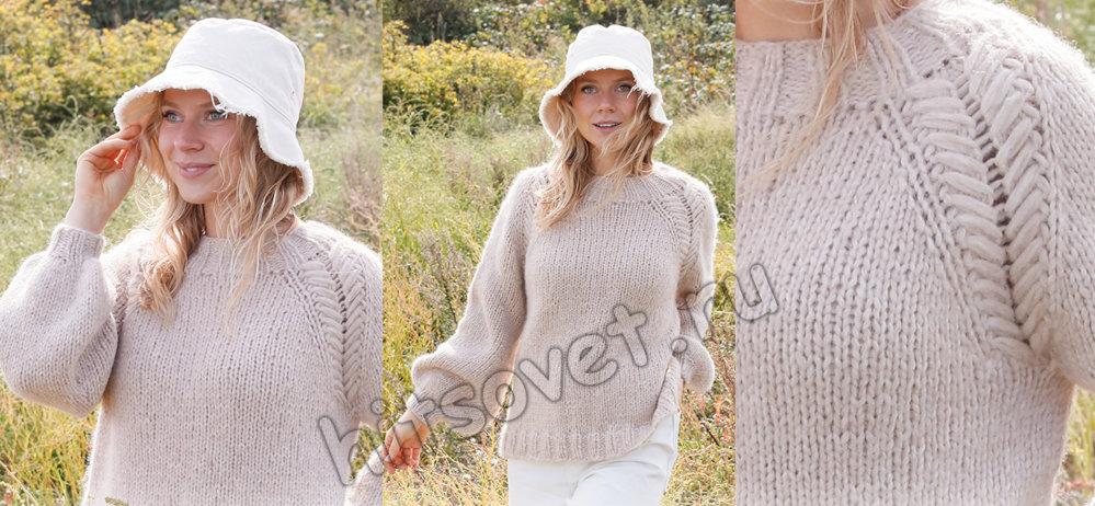 Свободный свитер спицами Just Right