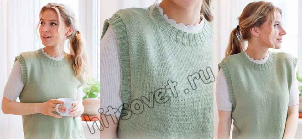 Вязание безрукавки Abby Vest, фото.