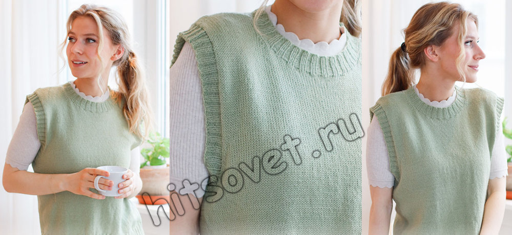 Вязание безрукавки Abby Vest