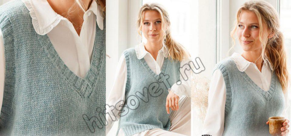 Вязание безрукавки Audrey Vest, фото.