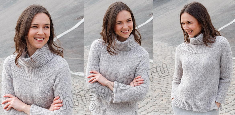 Вязание свитера Silver Touch