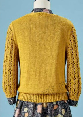 Пуловер спицами с запахом Saltburn, фото 2.