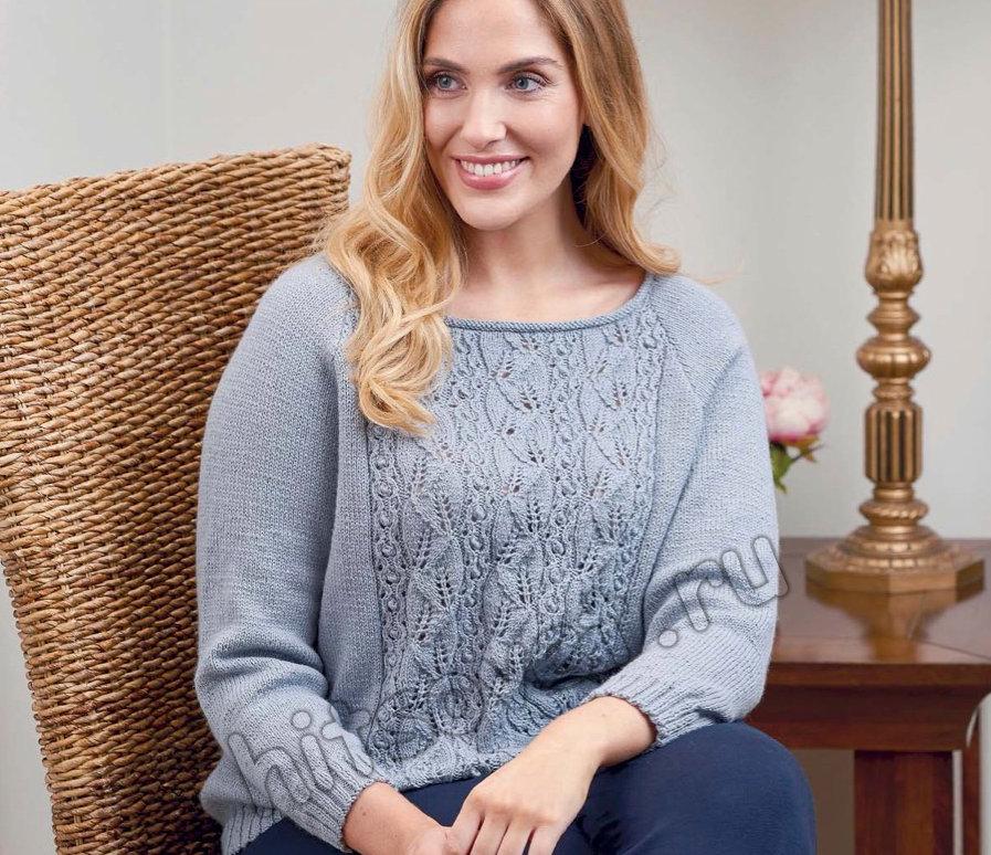 Вязание пуловера Wellesley, фото.
