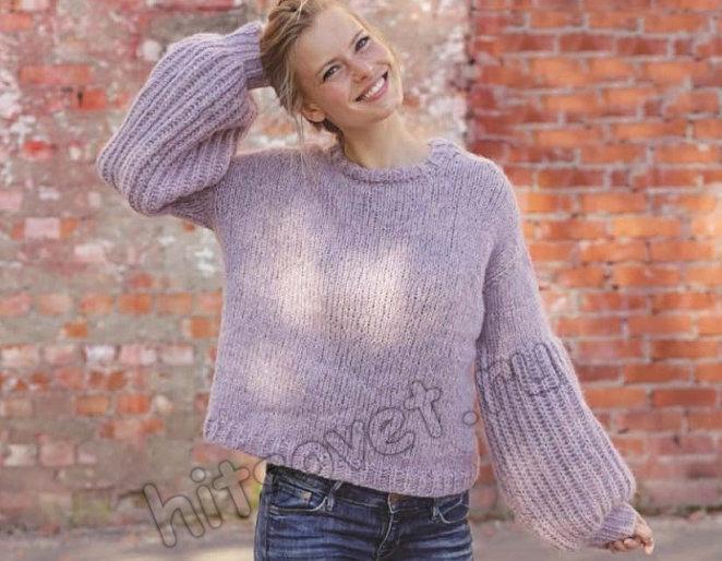 Вязание пуловера Bewetched, фото.