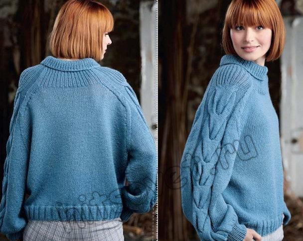 Вязание свитера Zoya, фото 2.