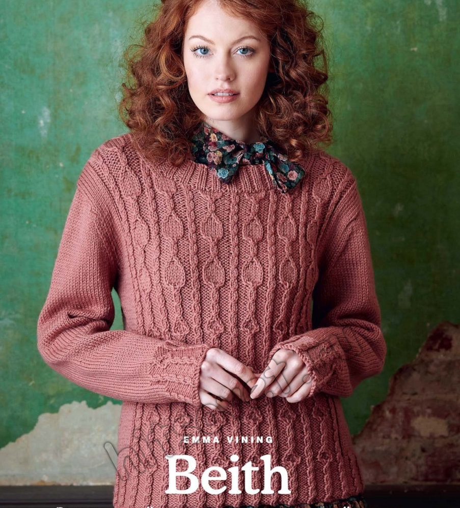 Вязание женского пуловера Beith