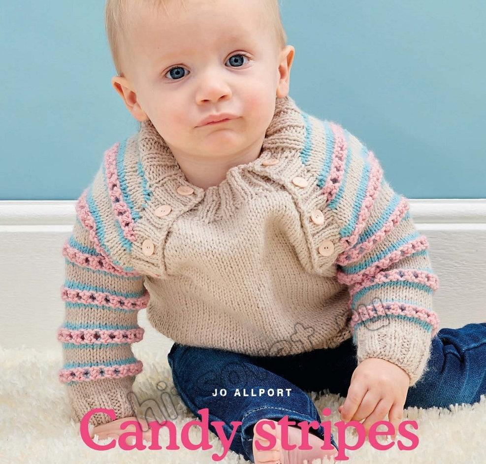 Вязаный джемпер для малыша Candy stripes