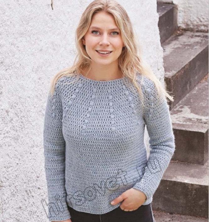 Вязание пуловера Rain Dance