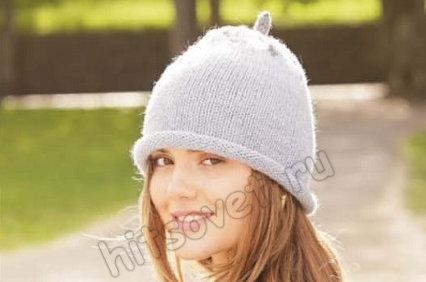 Вязание шапки Frosty Berry, фото 1.