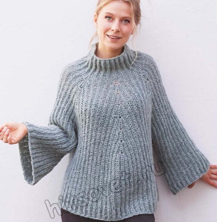 Вязание свитера Dublin Winter, фото.
