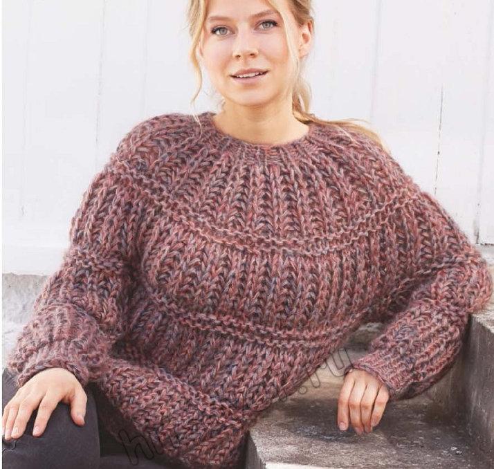 Вязание свитера Tundra Twilight